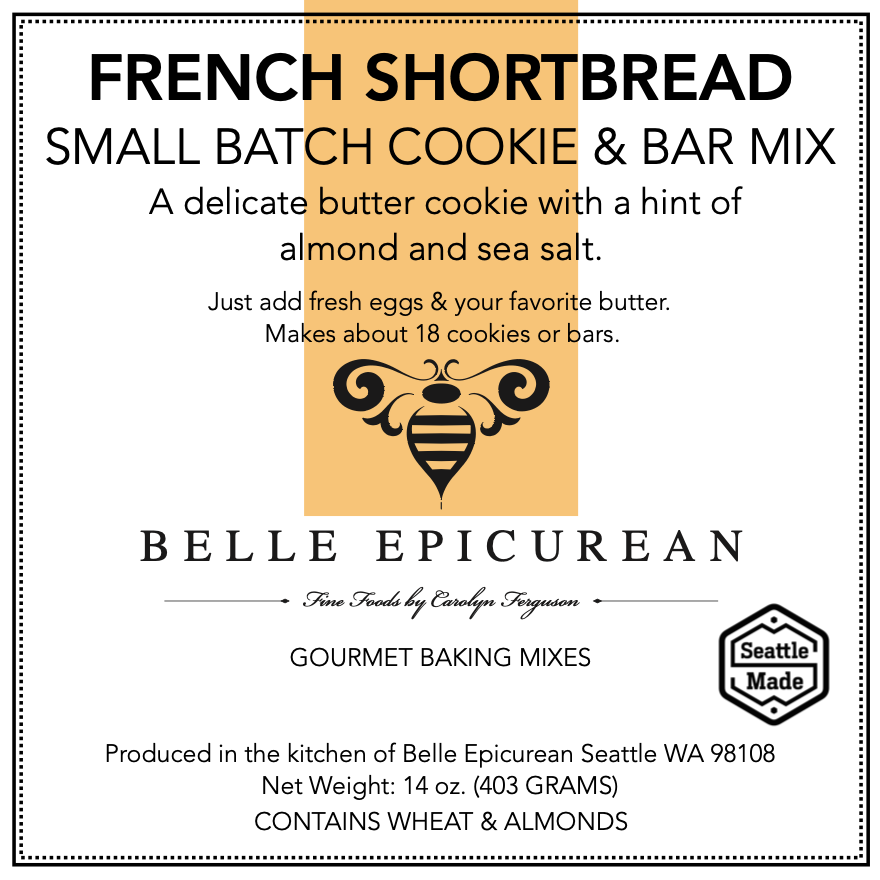 Front Panel, Cookie, Shortbread, French